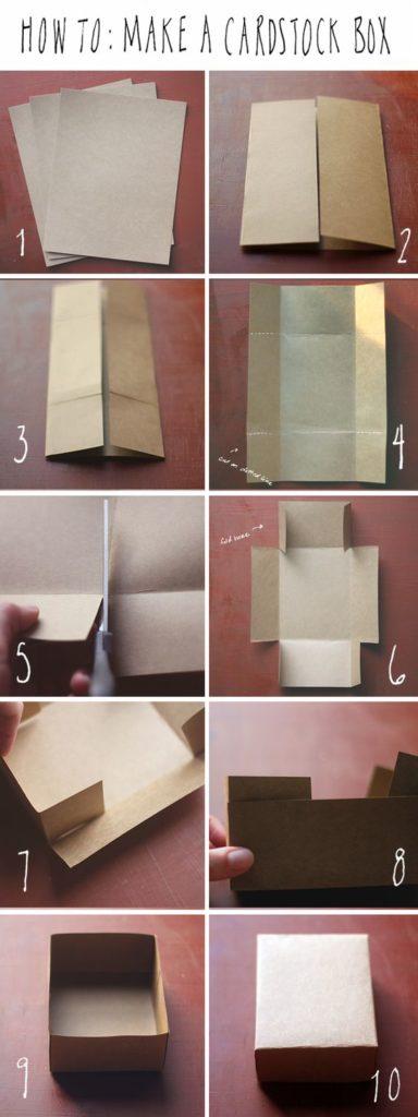 коробка из крафт бумаги