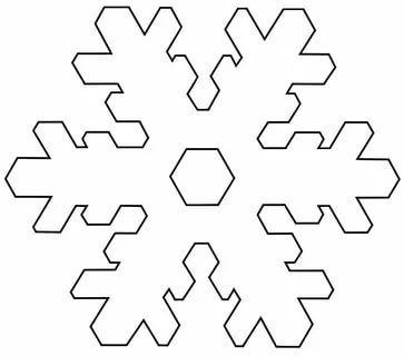 трафареты снежинки3