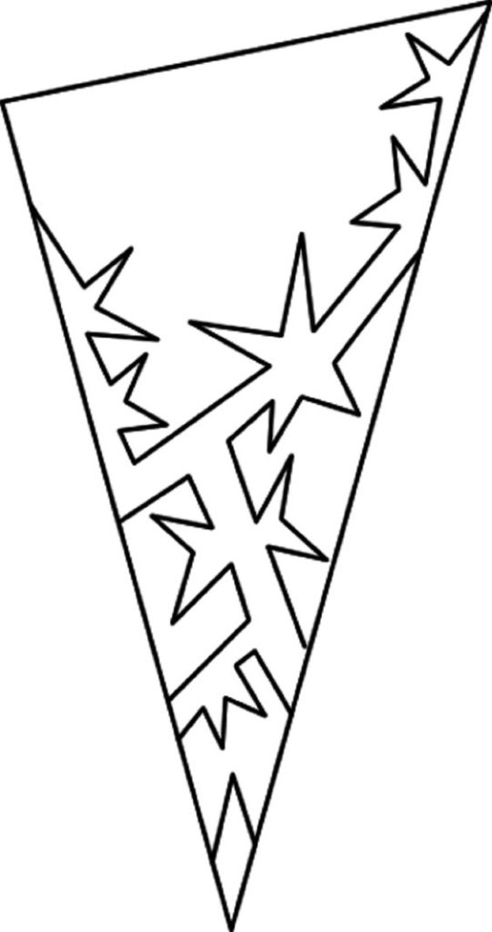 шаблон снежинки со звездами