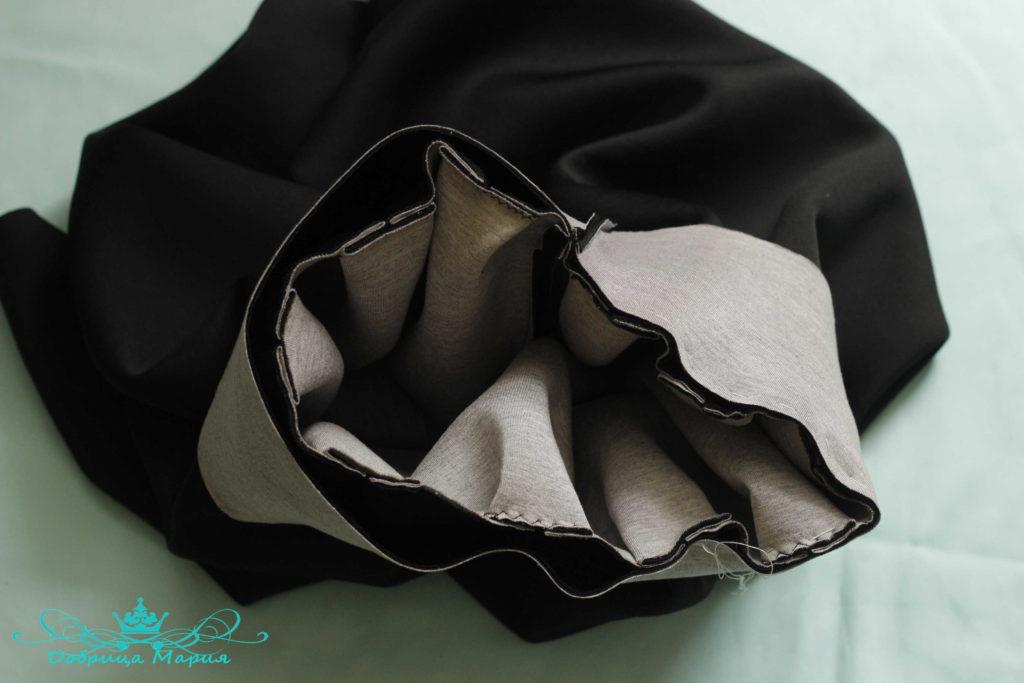 юбка с аппликациями маков13