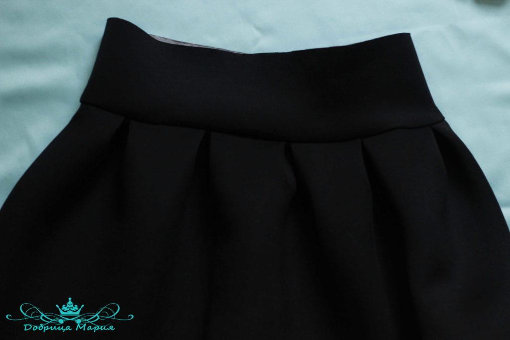 юбка с аппликациями маков18
