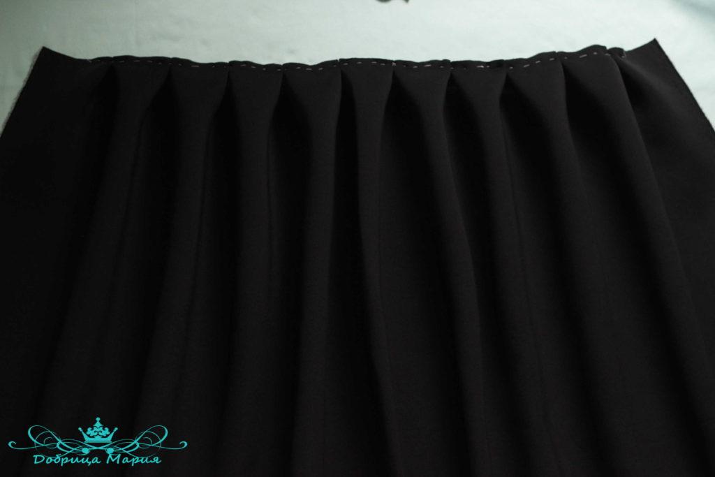 юбка с аппликациями маков4