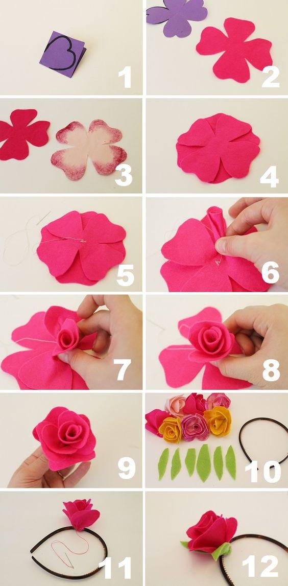 Цветки из фетра своими руками 71