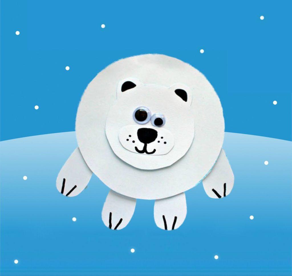 аппликация полярный медведь