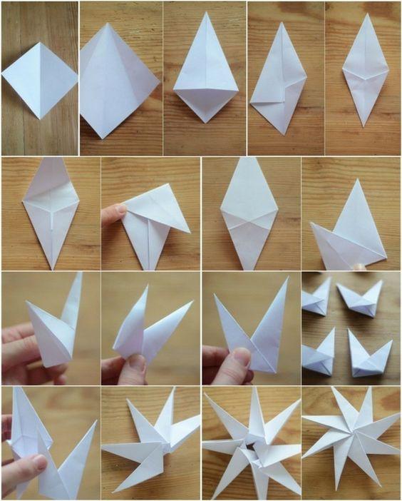 звезда из бумаги