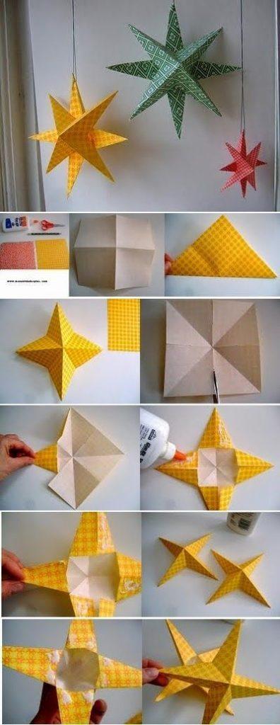 звезда кусудама из бумаги