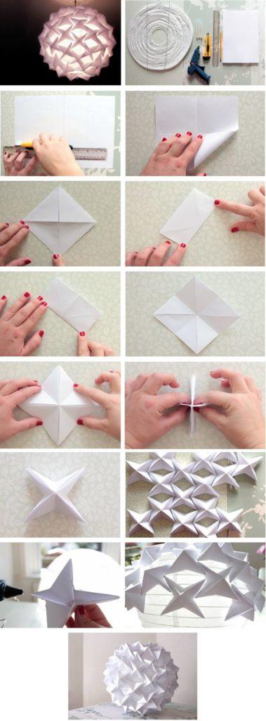 Как своими руками сделать красивые снежинки из бумаги своими руками пошагово фото 571