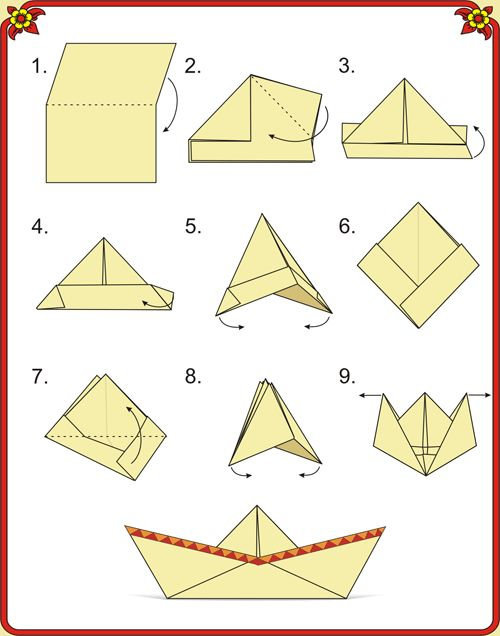 Кораблики поделки из бумаги своими руками 6