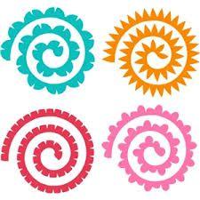 спирали для цветов из фетра