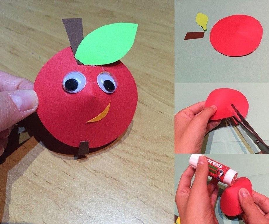 яблоко из бумаги