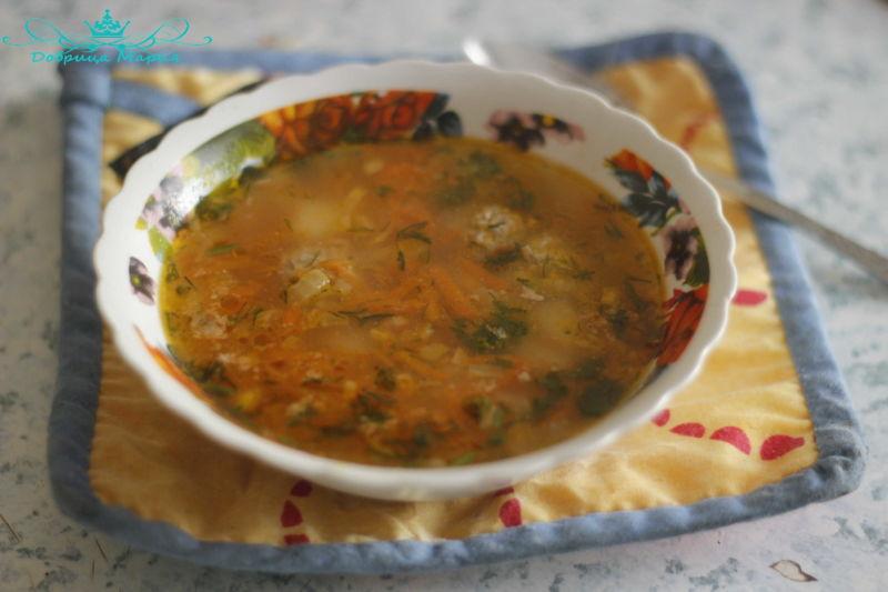суп с фрикадельками13