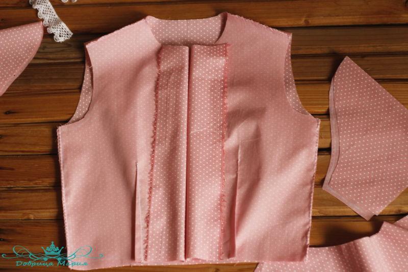 блузка с баской на девочку своими руками10