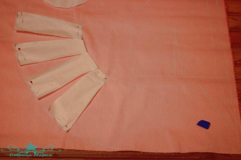 блузка с баской на девочку своими руками3