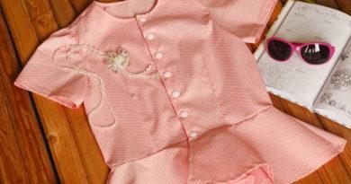 блузка с баской на девочку своими руками50