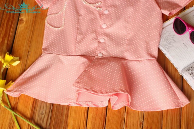 блузка с баской на девочку своими руками52