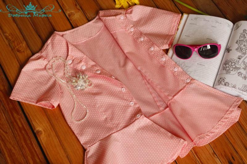 блузка с баской на девочку своими руками53