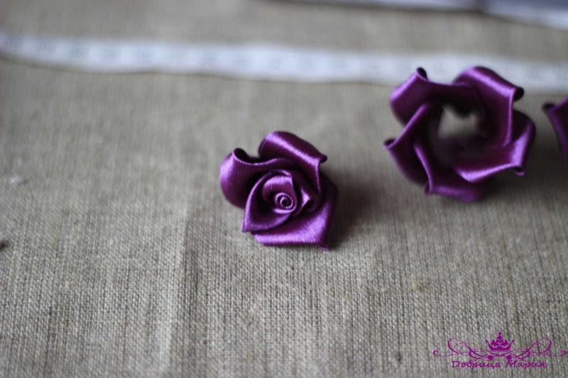 Розы из лент24