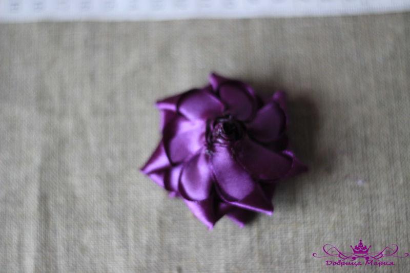 Розы из лент26
