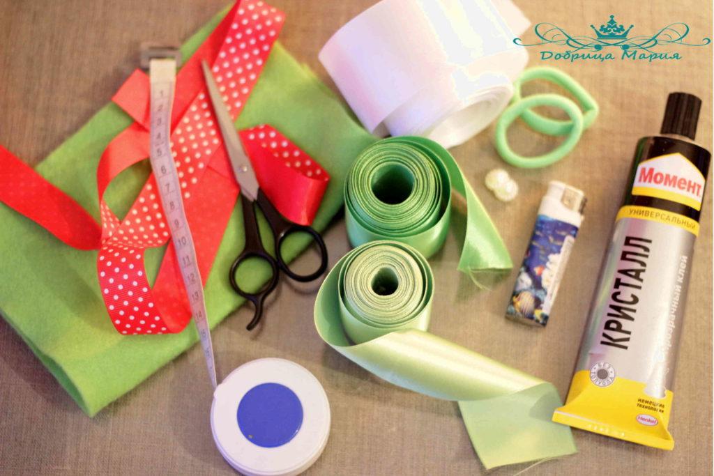 1 необходимые материалы для создания цветка канзаши