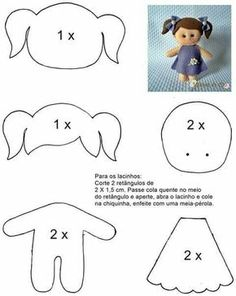 шаблон куклы из фетра
