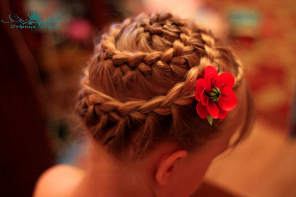 плетение кос улитка