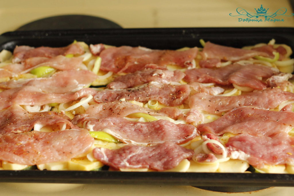 кабачок в духовке с мясом10