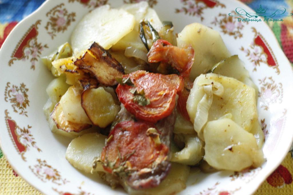 кабачок в духовке с мясом13