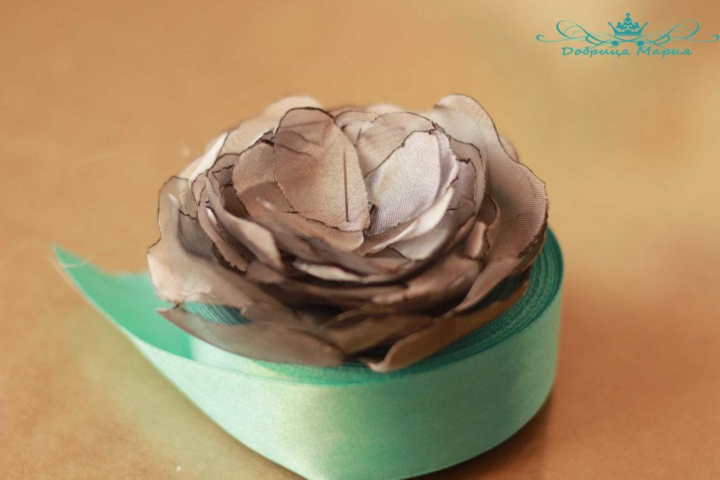 цветок из органзы10