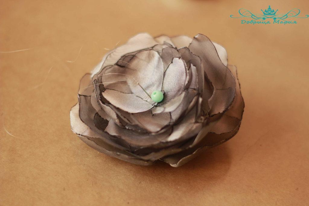 цветок из органзы12