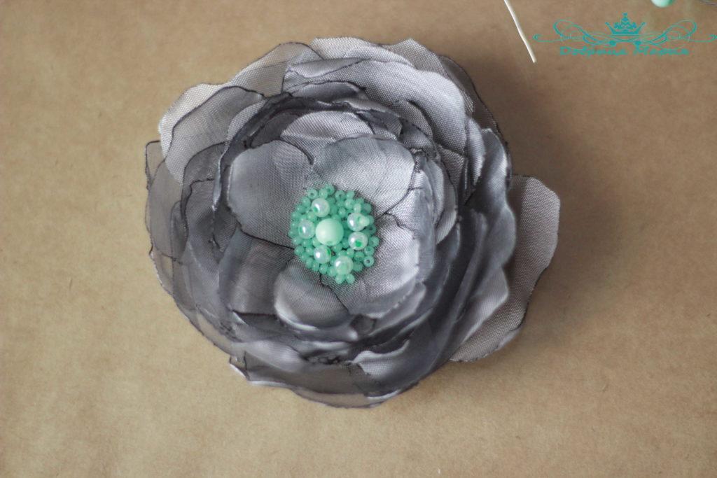 цветок из органзы13