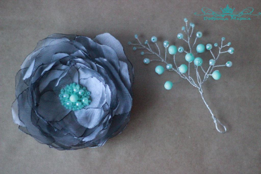 цветок из органзы14