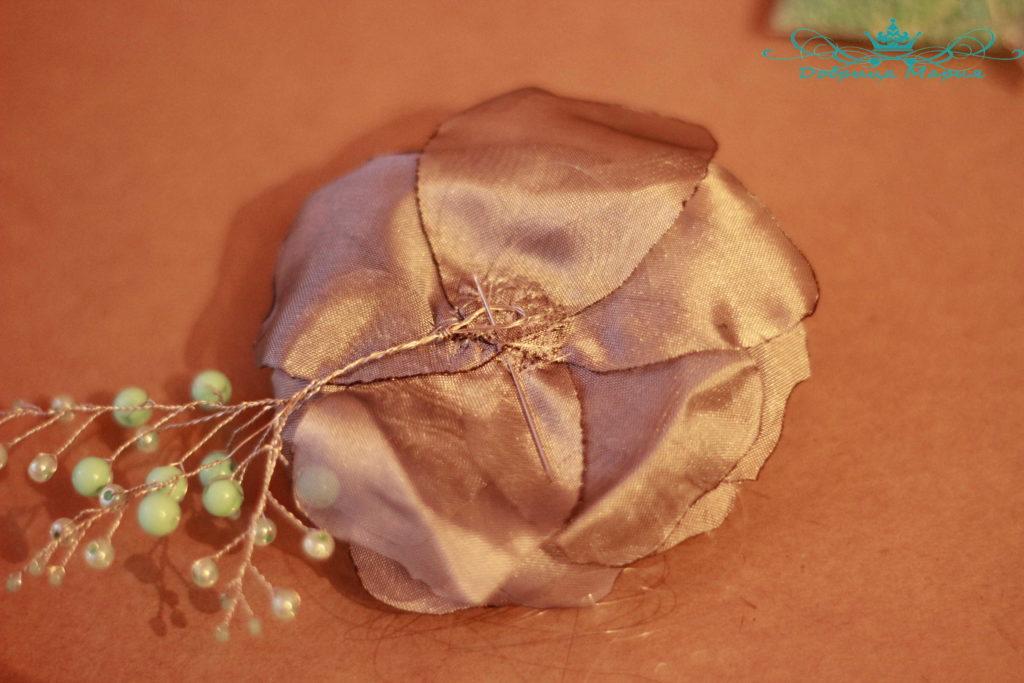 цветок из органзы15