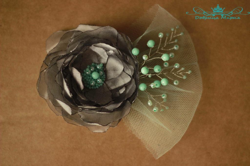 цветок из органзы16
