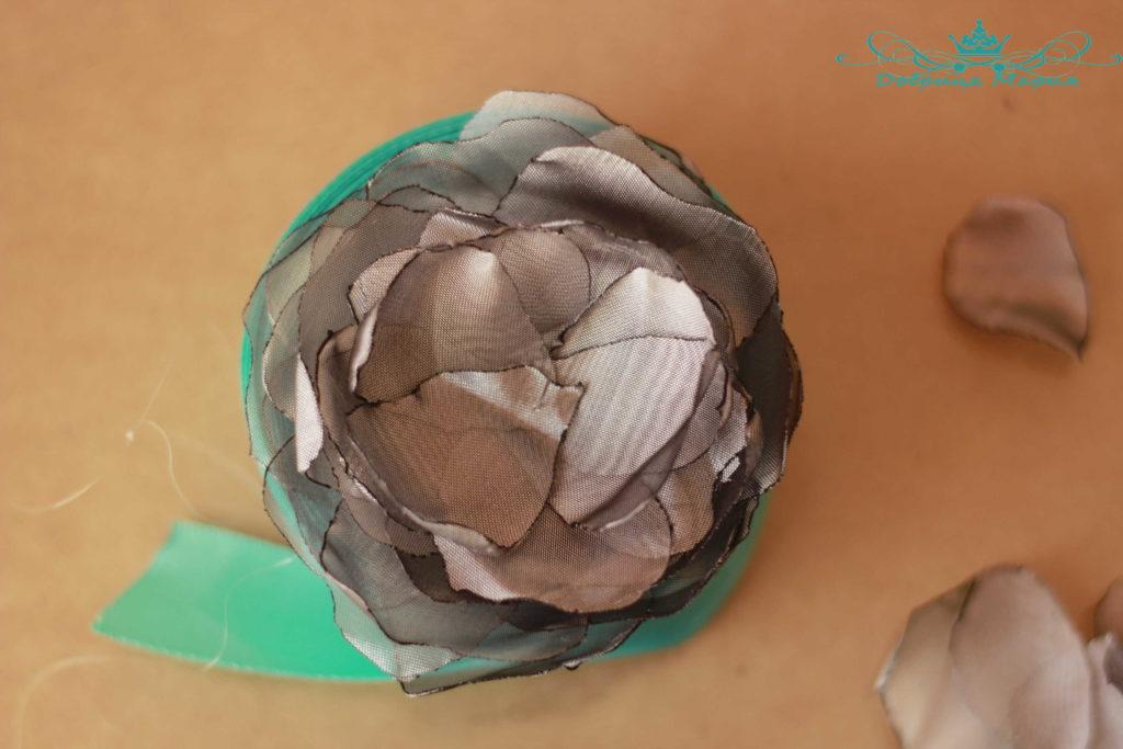 цветок из органзы8