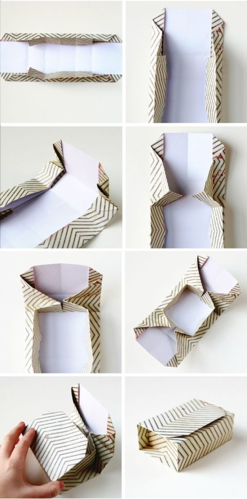 Оригами упаковка для подарков