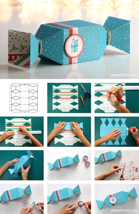 подарочная упаковка конфетка
