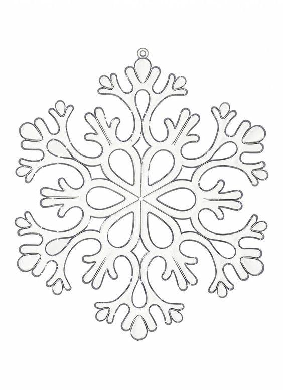 трафарет снежинки1