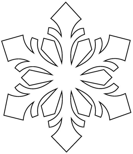 трафарет снежинки2