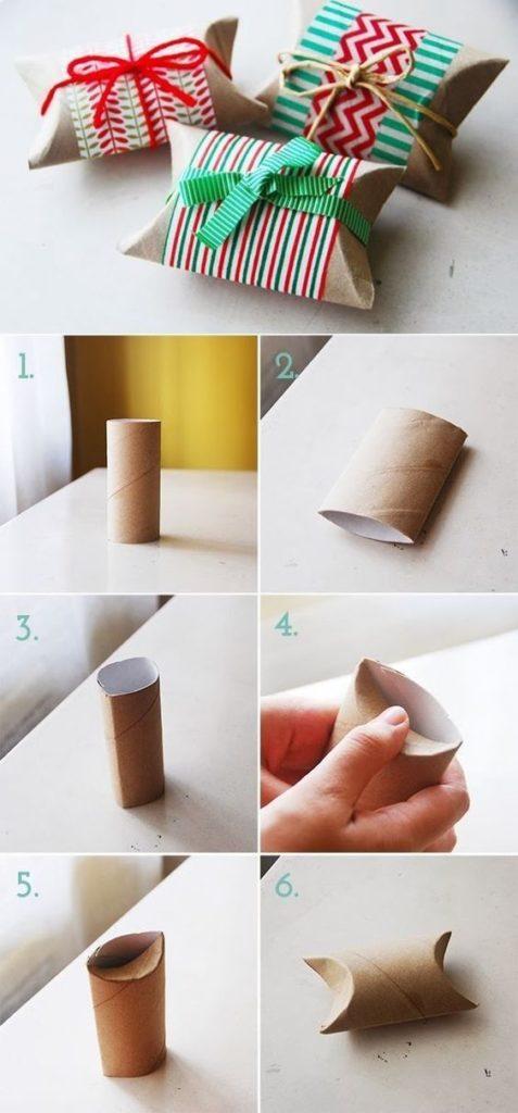 упаковка для подарков от туалетной бумаги
