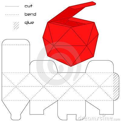 шаблон коробки для подарков