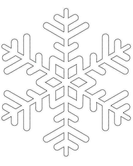 шаблон снежинки5