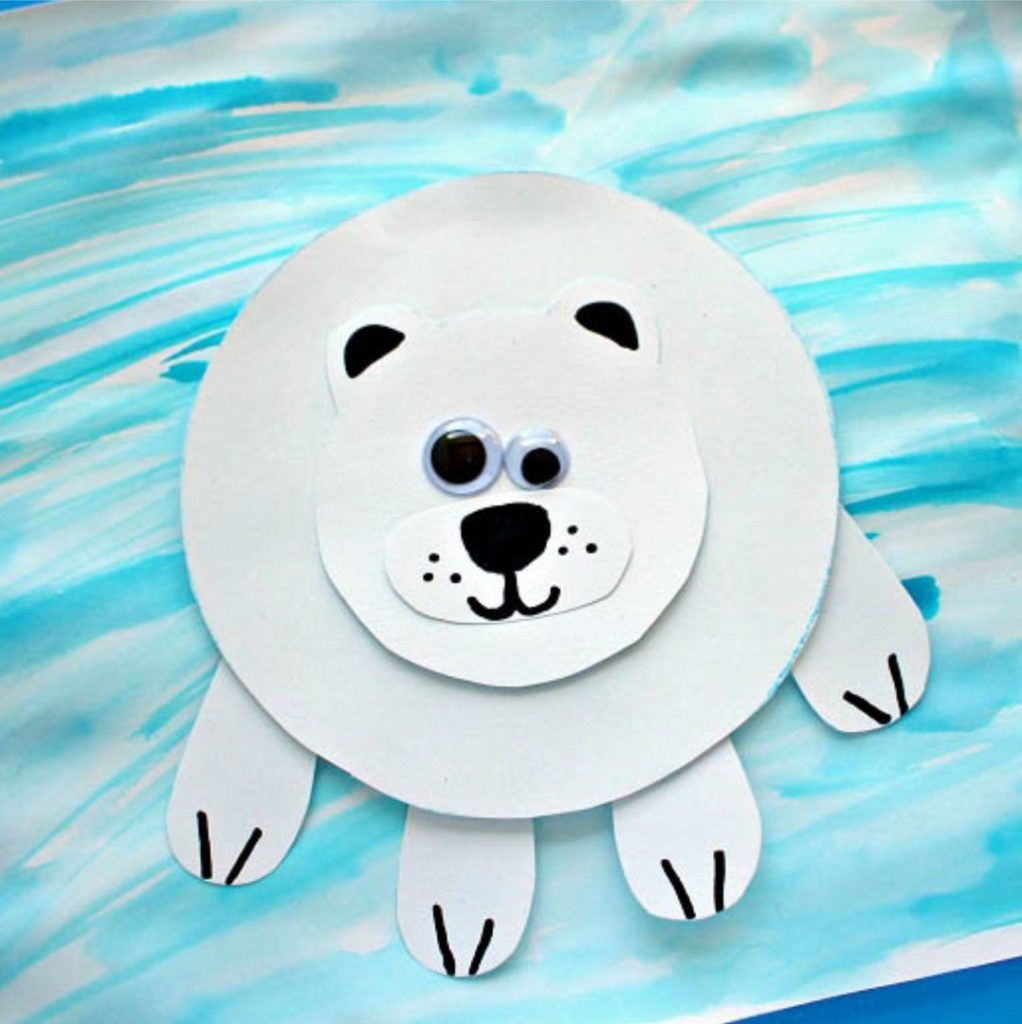 аппликация полярный медведь3