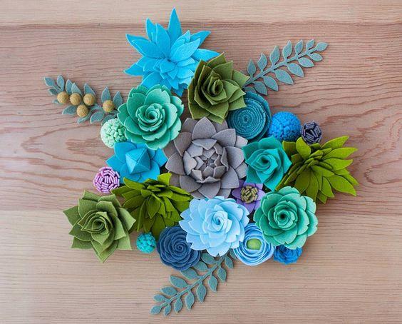 Шаблон цветов из фетра своими руками