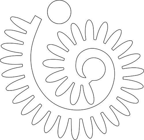 шаблон цветка из фетра
