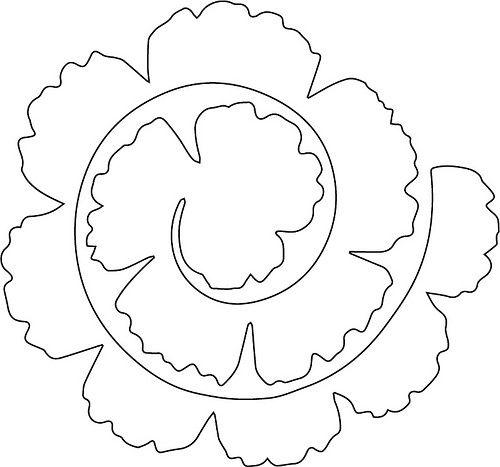 шаблон цветка из фетра1