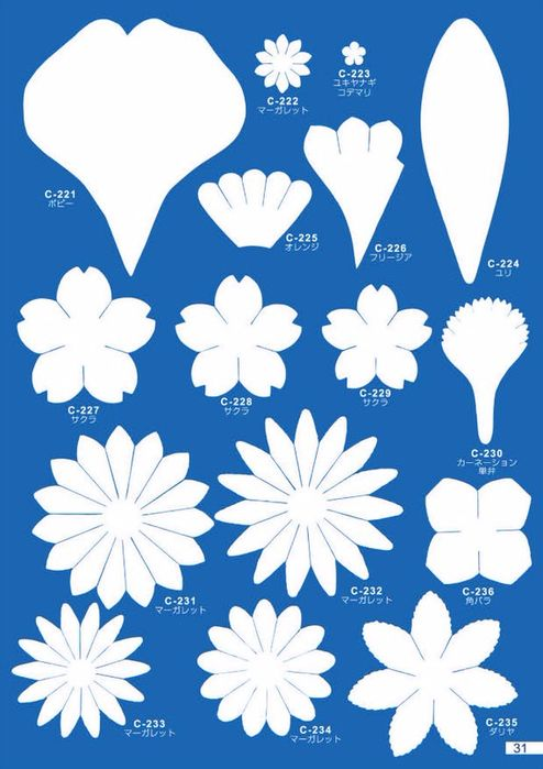 -цветов-и-лепестков Цветы из фетра своими руками: мастер-класс и выкройки