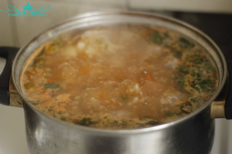 суп с фрикадельками11