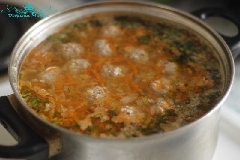 суп с фрикадельками12