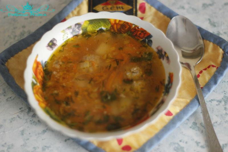 суп с фрикадельками14