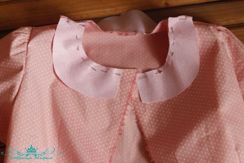 блузка с баской на девочку своими руками24
